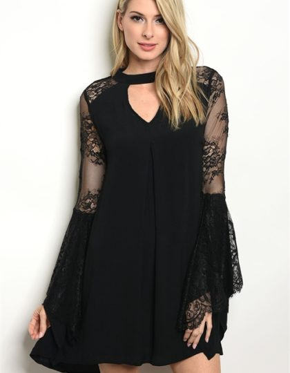 black lace dress F