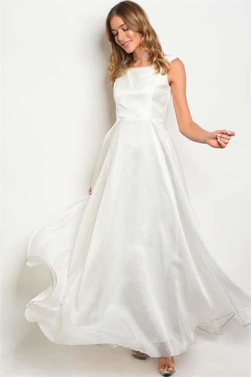 pearl white gown F