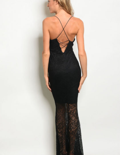 black lace dress B