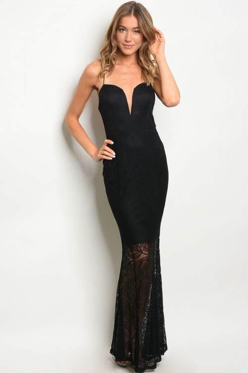 Buy Designer Black Modern Lace Mermaid Dress For Women Online