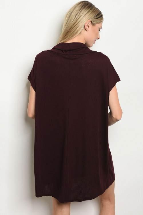 burgundy dress B
