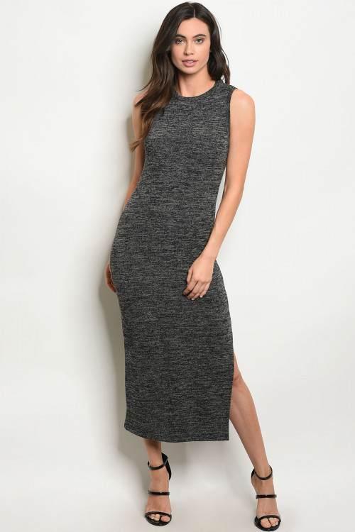 charcoal dress F