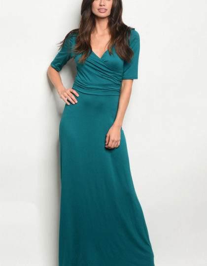 teal dress F