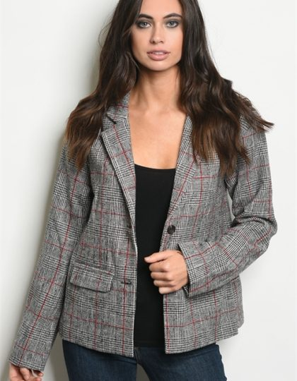 WOMENS PLAID JACKET