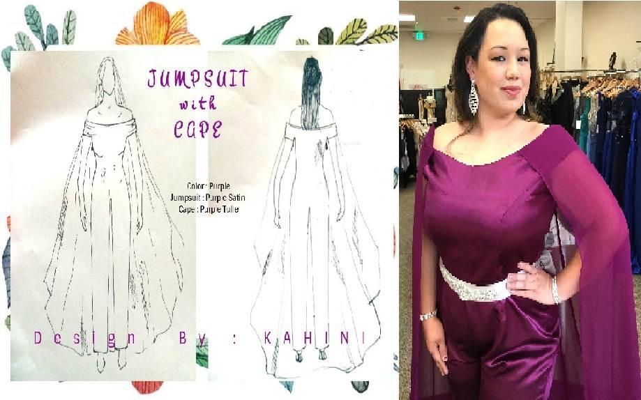 custom jumpsuit dress gown pageant bridesmaid wedding formal dress
