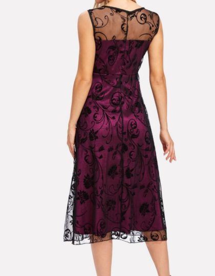WINE DRESS. BACK LACE