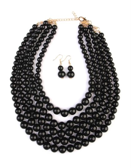 black bead bib