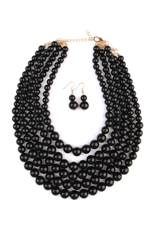 black bead bib