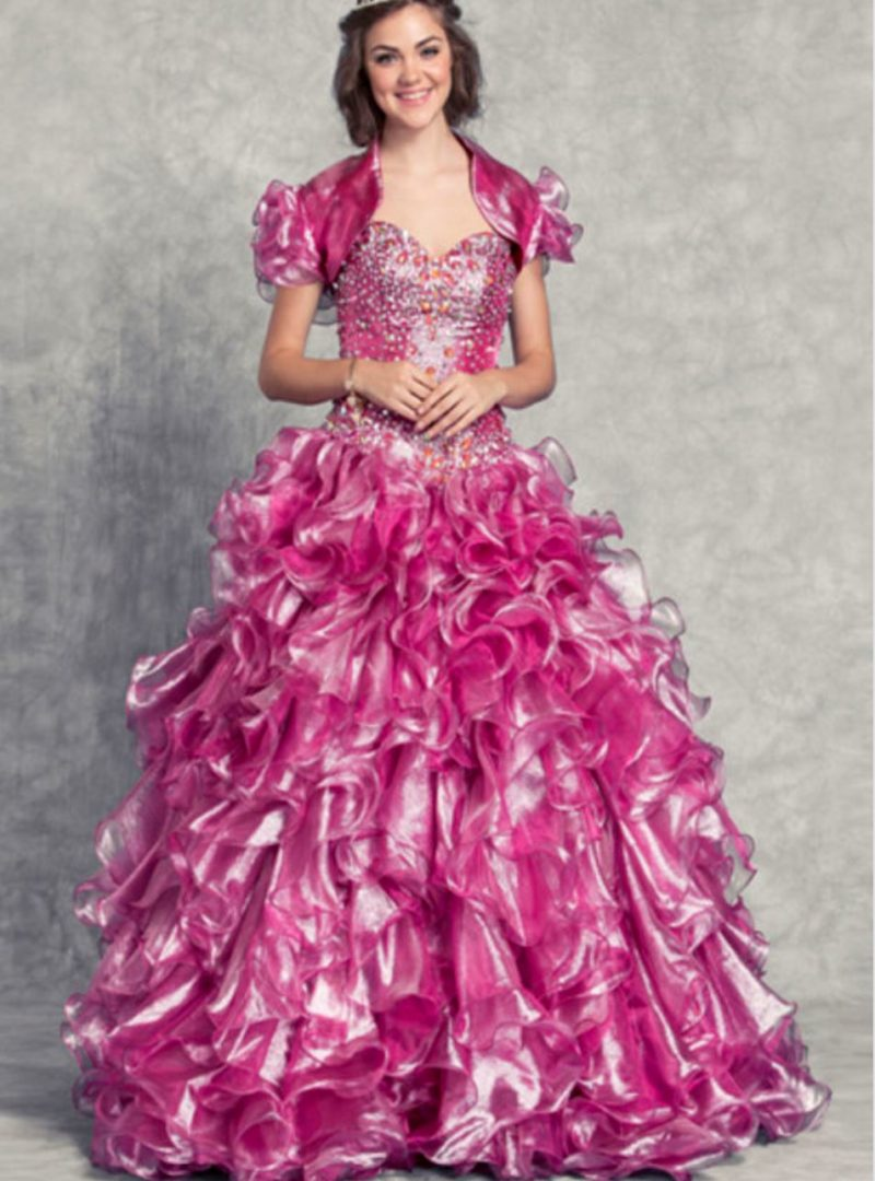 44375aad48 Buy Designer Dusty Pink Ruffle Ball Gown For Women Online - Kahini Fashion