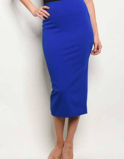 royal blue skirt front