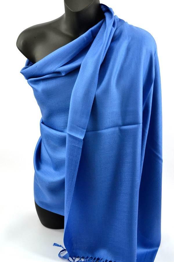 Blue Pashmina Silk Scarf