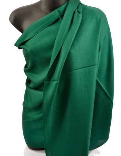 Dark Green Pashmina Silk Scarf