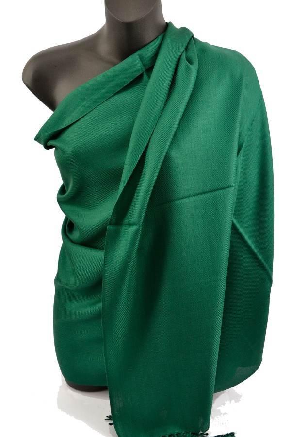 Dark Green Pashmina Silk Scarf