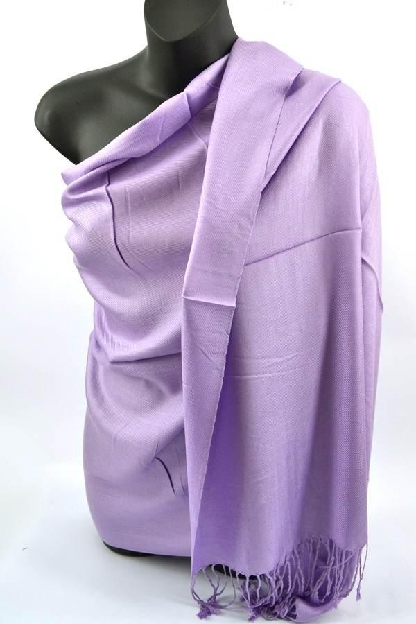 Lavender Pashmina Silk Scarf