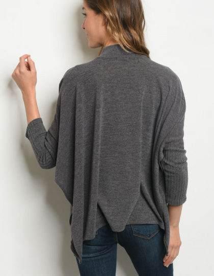 grey womens stylish poncho