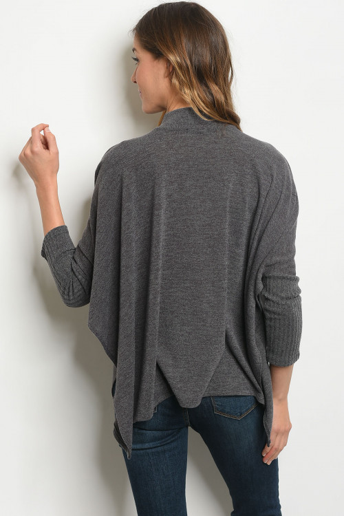 grey womens stylish poncho
