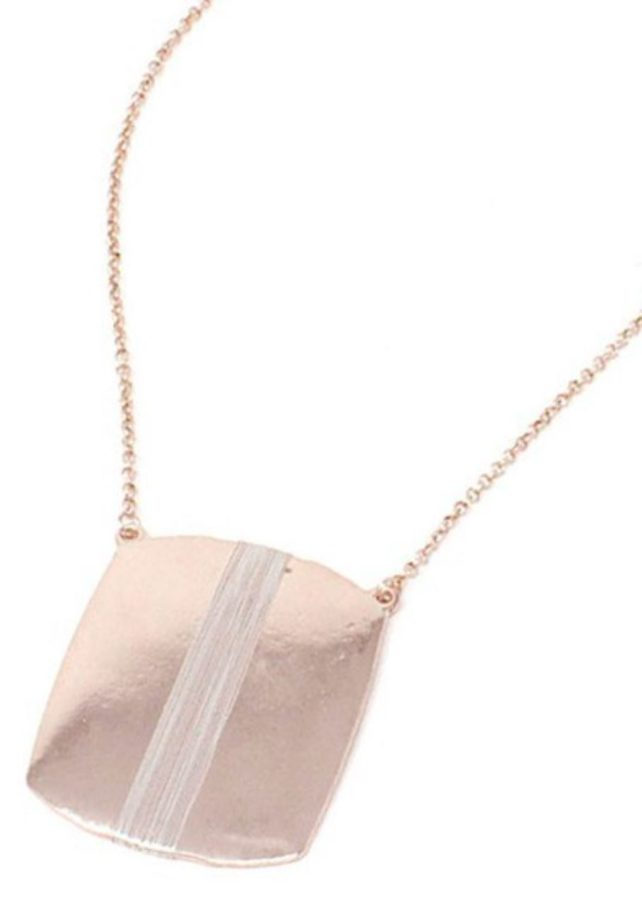 antique ROSEGOLD BOHO modern designer necklace