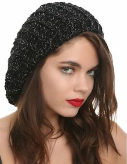 lurex beret hat