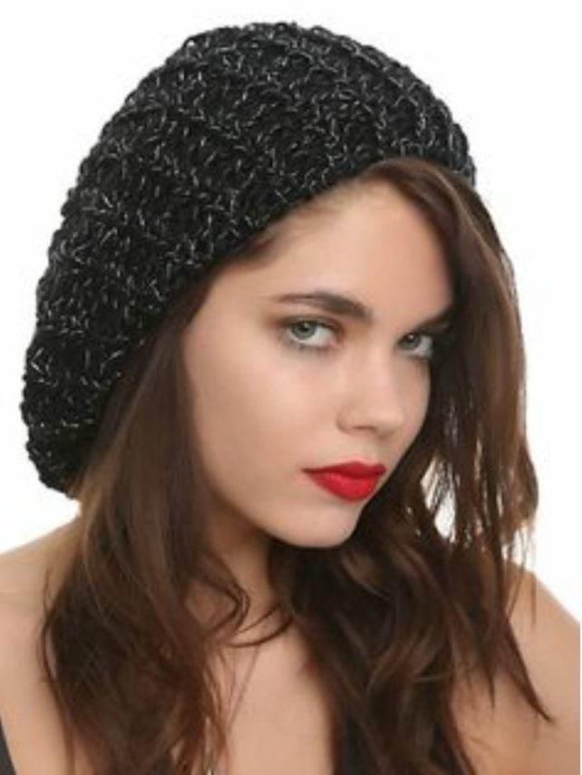 lurex beret hat