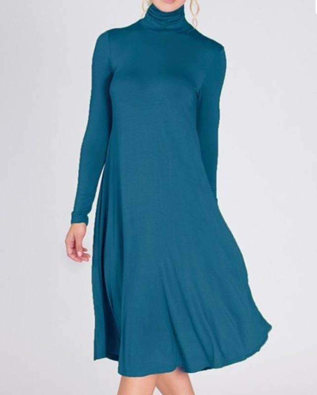 948e4e09e5 Buy Designer Teal Turtleneck Dress For Women Online - Kahini Fashion